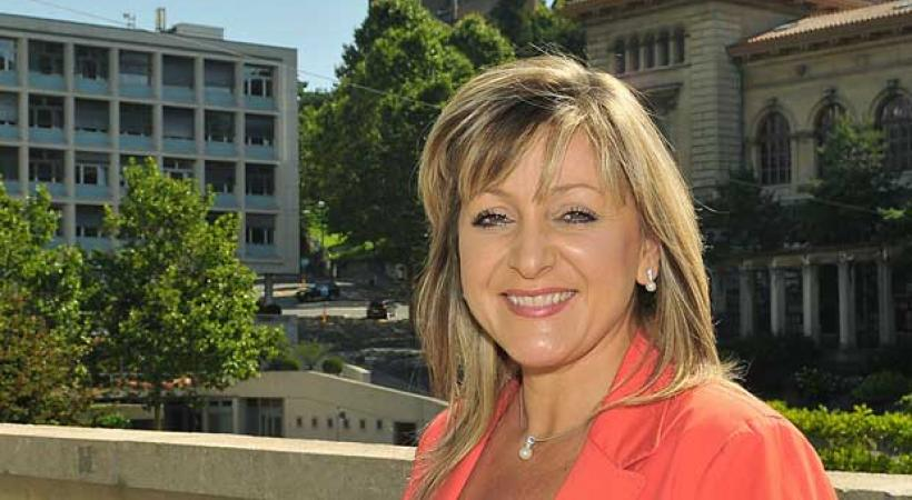 Nuria Gorrite  Conseillère d'Etat,  Cheffe du département des infrastructures et des ressources humaines. dr