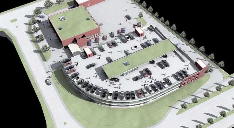 La maquette du nouveau centre tel qu'il se présentera aux futurs acheteurs. Dr