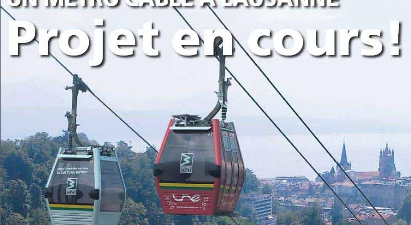 Un métro câble à Lausanne. dr