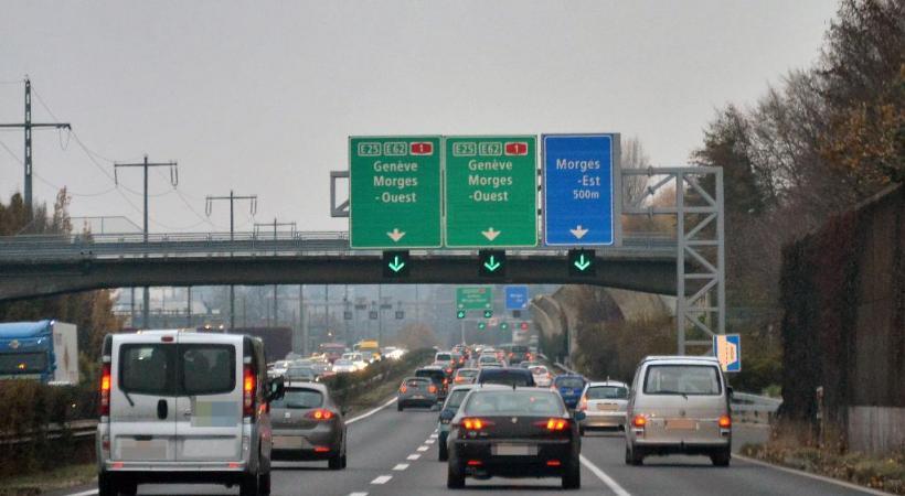 A la hauteur de Morges, les embouteillages sont légion. VERISSIMO