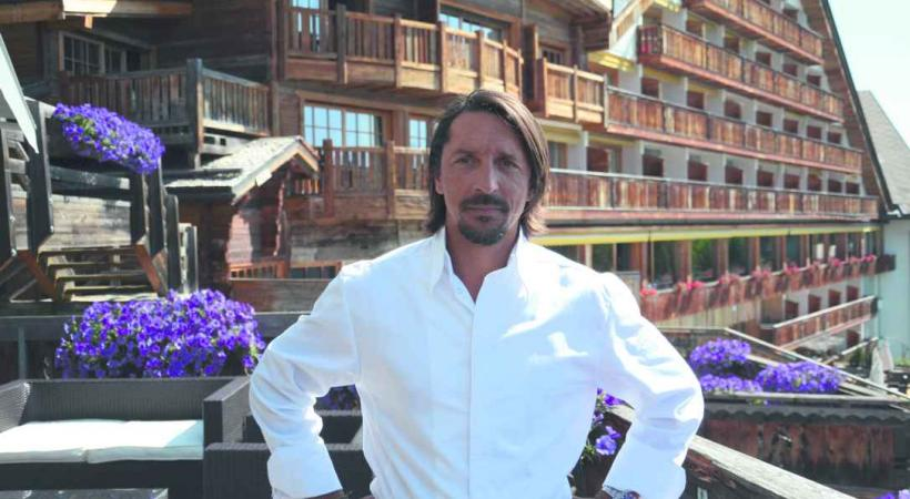 Franck Reynaud, le chef étoilé de l'Hostellerie du Pas de l'Ours.