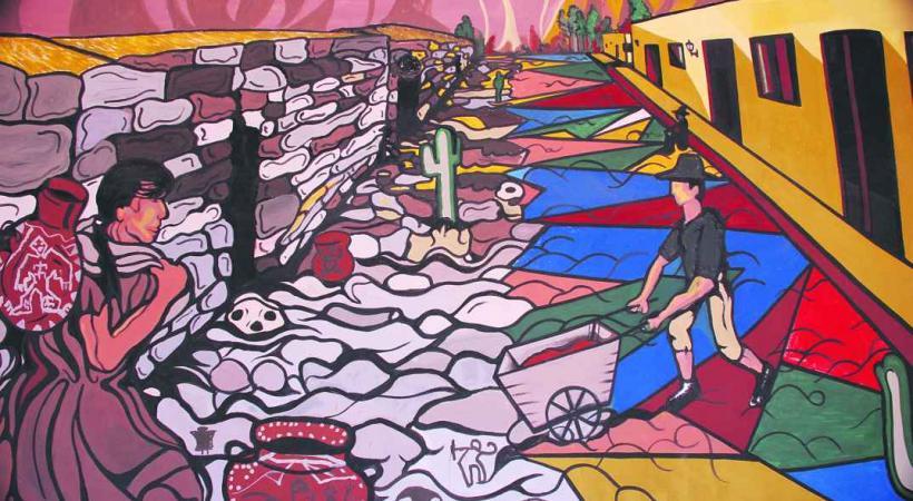 Fresque dans la petite ville de Cachi.
