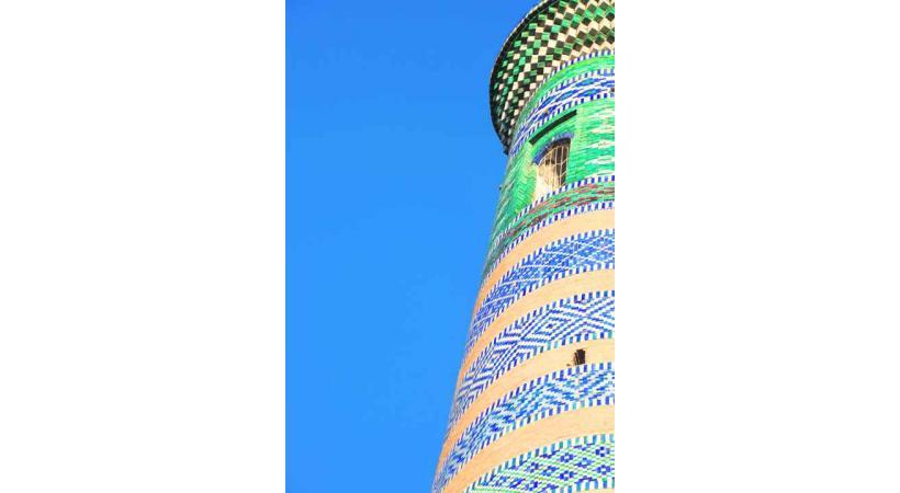Le minaret Islom-Hoja de Khiva.