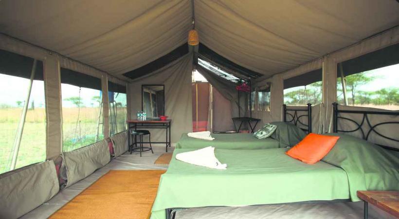 Campement Kati Kati dans le Serengeti.