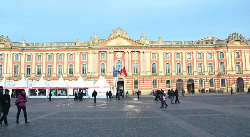 Le Capitole est aussi l'hôtel de ville de Toulouse.
