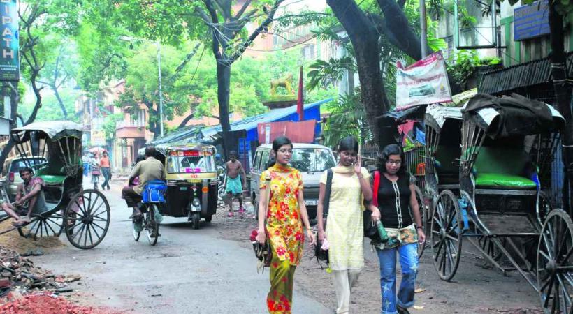 Dans les rues de Calcutta.