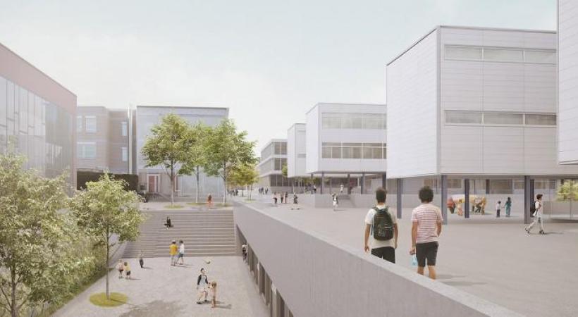 L'extension du Collège de Bois-Murat s'achèvera en 2024 et doit abriter une centrale solaire photovoltaïque. DR /IMAGE DE SYNTHESE