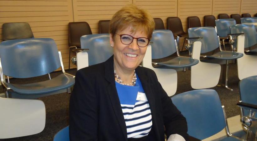 Michèle Bruttin, présidente de forom écoute, la fondation romande des malentendants, Lausanne.