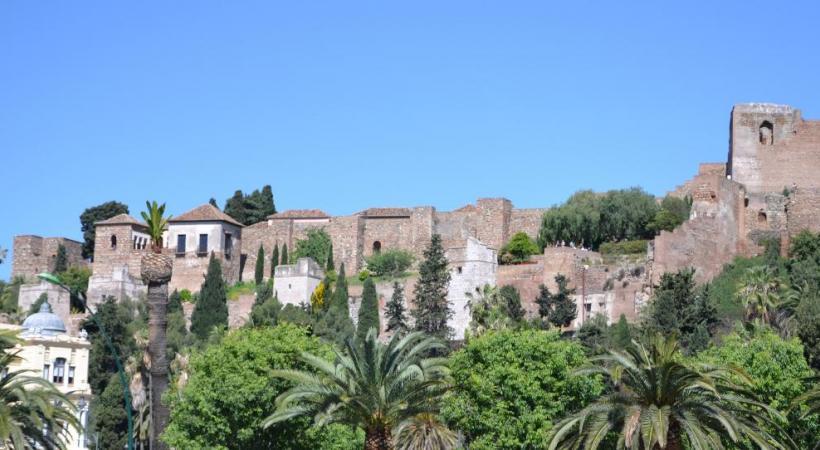 Le château du Gibralfaro, Málaga.