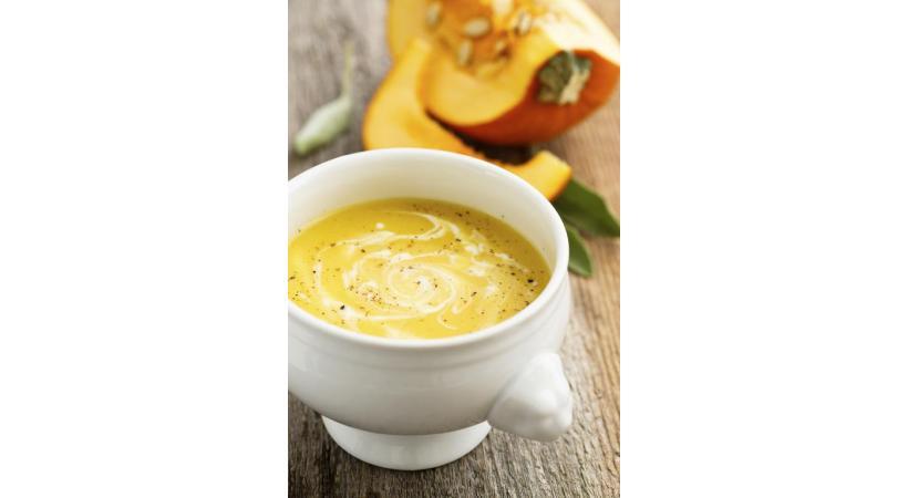 Soupe de courge et de carotte au gingembre