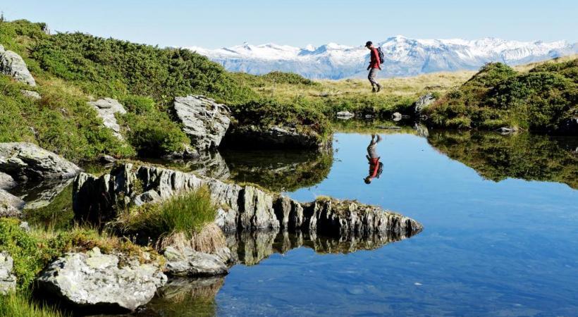 L'été à Thyon permet des randonnées de grande découverte comme les zones humides que sont les Gouilles d'Essertze et les Gouillis.  FRANçOIS PERRAUDIN En trottinette de montagne. NICOLA CUTI Raid ou promenade, le cheval est roi. NICOLA CUTI Un artiste-sculpteur de Montagn'Art à l'œuvre. NICOLA CUTI