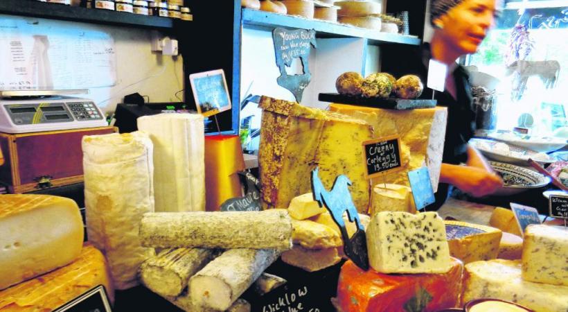 Un étal spectaculaire à la Little Cheese Shop de Dingle.