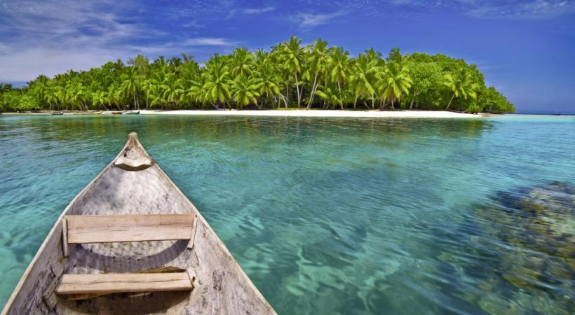 Plage sur la pointe sud de l'île.