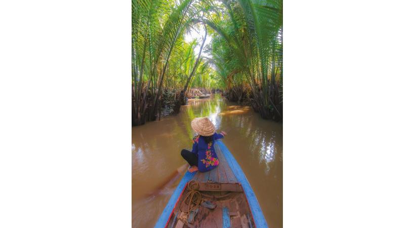 Cambodge. Dans les arroyos du delta.
