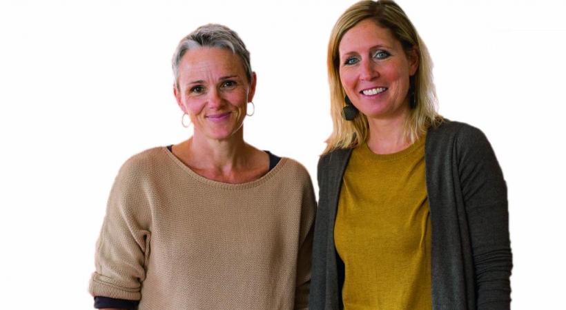 Véronique Cocho, responsable du lieu d'accueil et Alexandra Gubinelli, présidente de l'association. MISSON