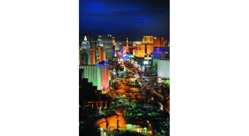 Las Vegas brille de mille feux dans le désert du Nevada.