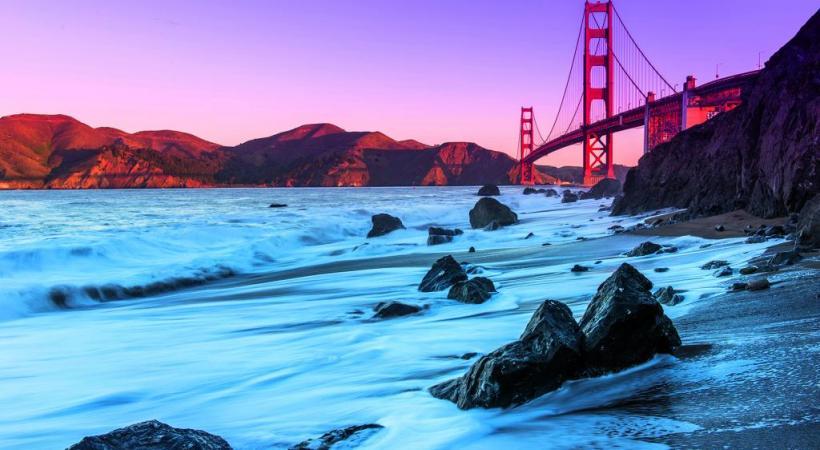 Le Golden Gate Bridge, emblème de San Francisco.