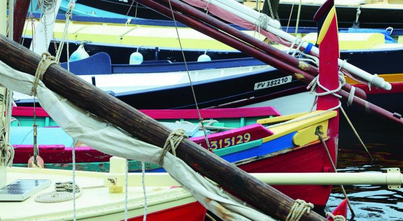 Barques traditionnelles catalanes. TOURISME PYRENEES-ORIENTALES