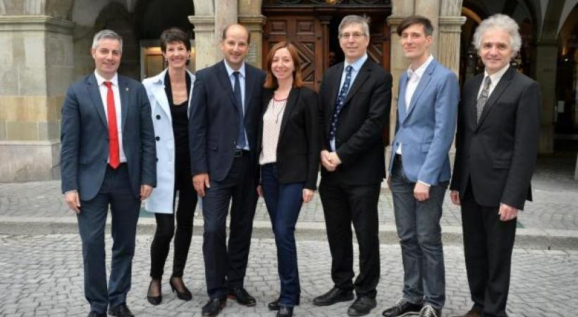 La nouvelle municipalité lausannoise. dr