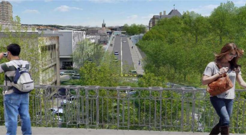 La rampe Vigie-Gonin telle qu'elle devrait être réalisée. PHOTOMONTAGE: Vaud.ch