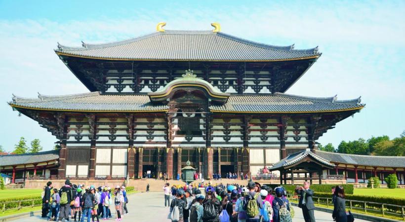 Todai-Ji ou Grand temple de l'Est à Nara. ALAIN BOSSU