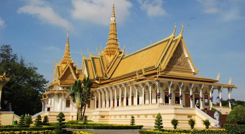 Le Palais Royal de Phnom Penh. ALAIN BOSSU.