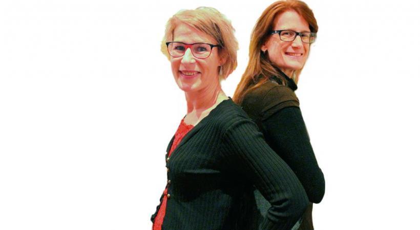 Sabine et Hélène Dormond, les cheffes de file du mouvement. GRABET