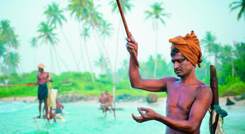 La traditionnelle pêche sur échasse.