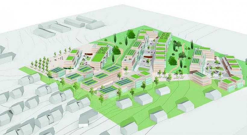 Le plan partiel d'affectation du futur quartier. DR