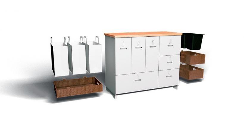 Créer une gamme de meubles qui favorisent le tri. dr