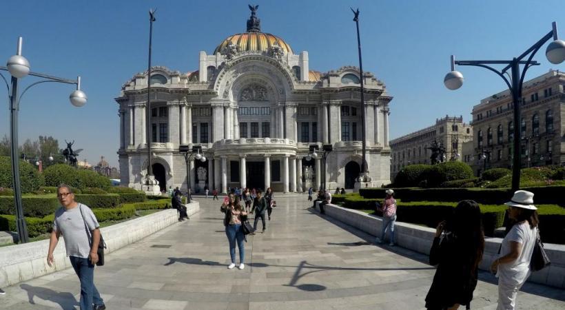 Le palais des beaux-arts, premier opéra de Mexico, achevé en 1934. BP