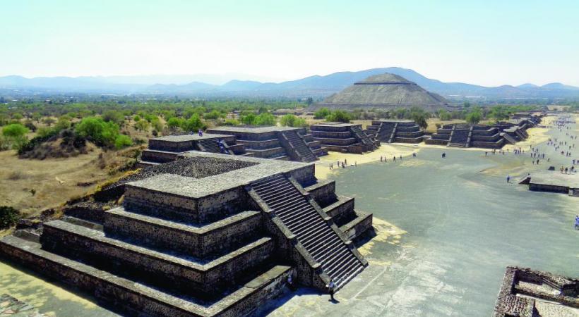 L'impressionnant site aztèque de Teotihuacan. BP