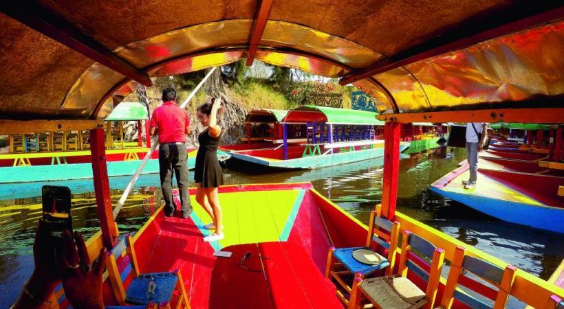 Xochimilco se donne des airs de Venise mexicaine. BP