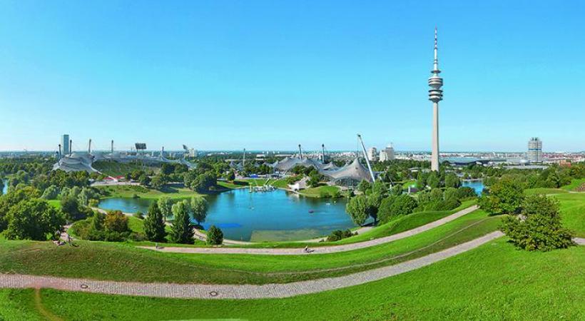 Le Olympiapark, un complexe de 3 km2 entièrement aménagé pour les loisirs. TOMMY LOESCH VITTORIO SCIOSIA