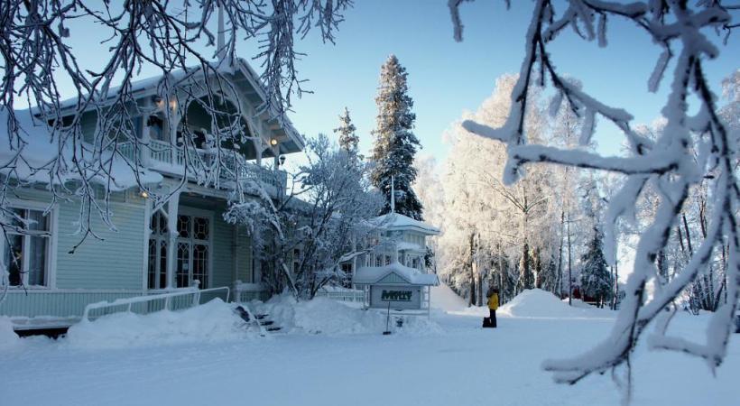 Un décor de conte de fées durant le long hiver nordique.