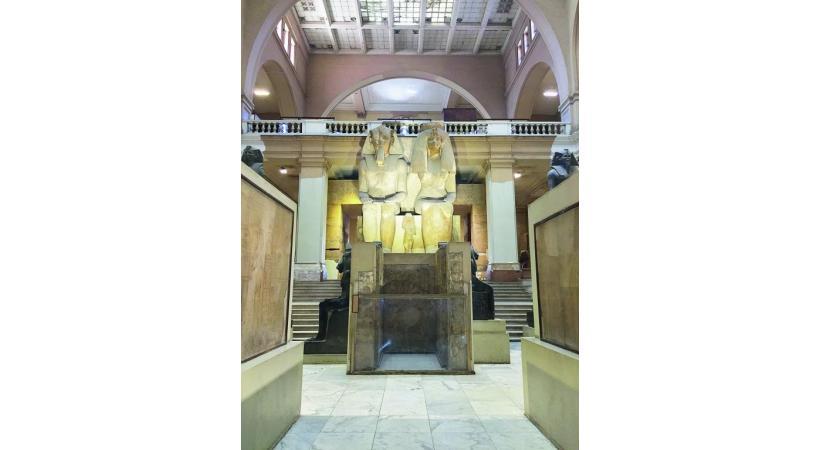 Le musée du Caire dégage une atmosphère  à la Tintin.