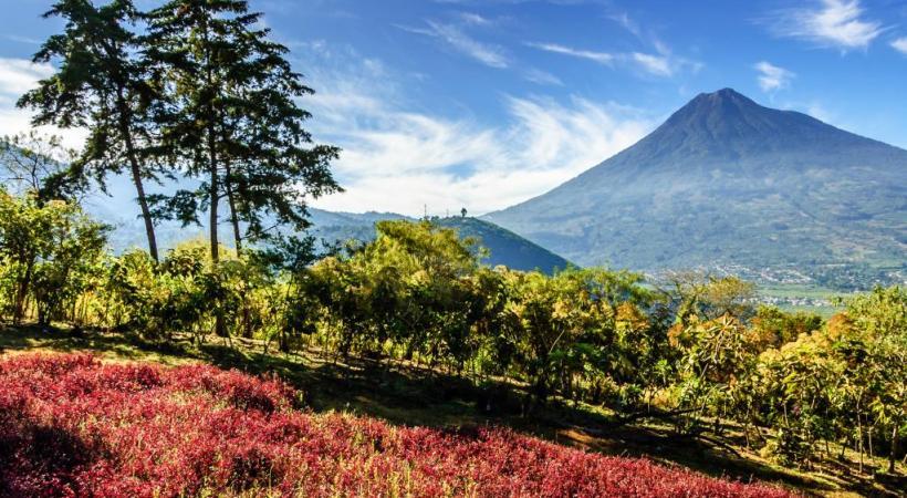 Terre de volcans, le Guatemala en abrite plus d'une vingtaine.
