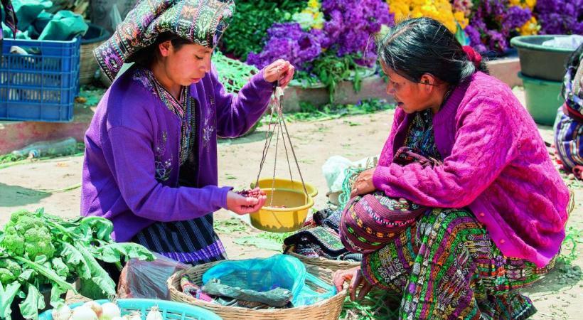 Les marchés, un florilège de couleurs.