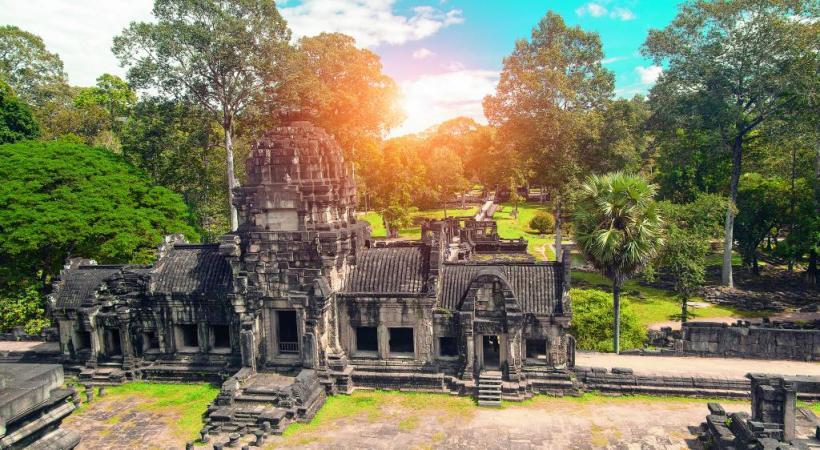 Un des temples de l'extraordinaire site d'Angkor, au Cambodge.