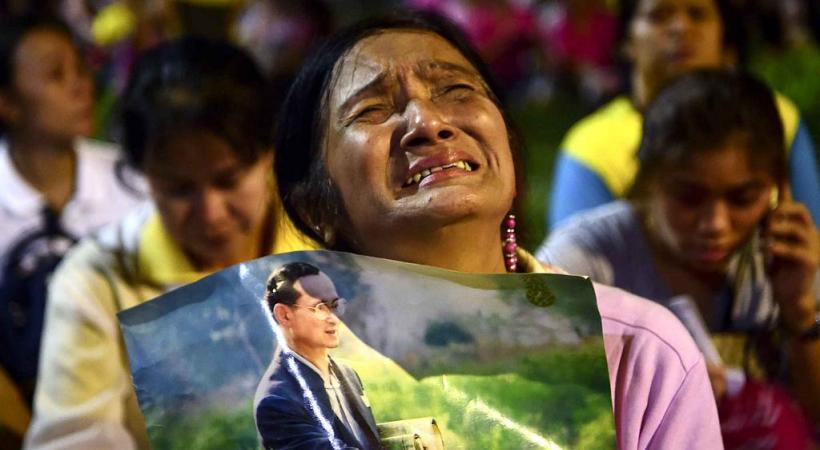 La crémation du roi, décédé l'an dernier, a plongé le pays dans un profond désarroi. dr