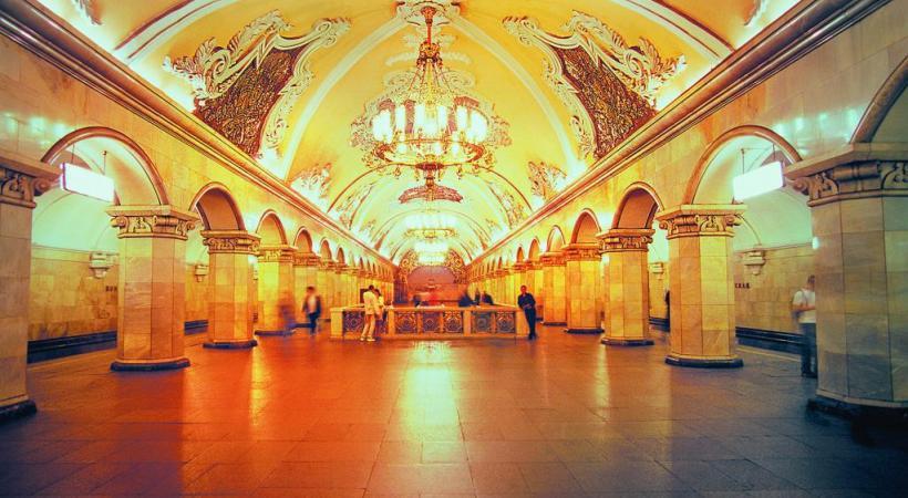 Le métro de Moscou et ses luxueuses stations: de véritables œuvres d'art. DR