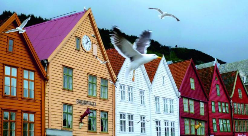 A Bergen, le fameux quai Bryggen est classé par l'Unesco. BP