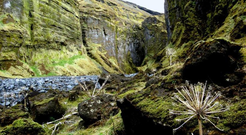 La géologie confère au paysage  ses étonnantes couleurs.