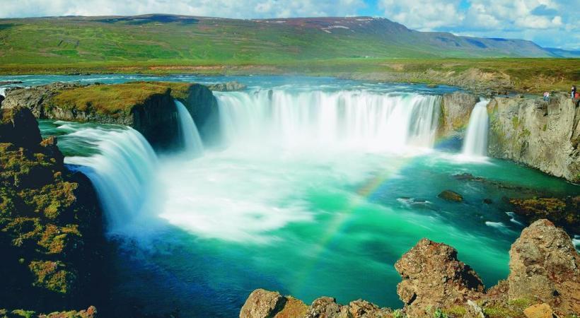 Gullfoss est une des chutes les plus célèbres d'Islande.