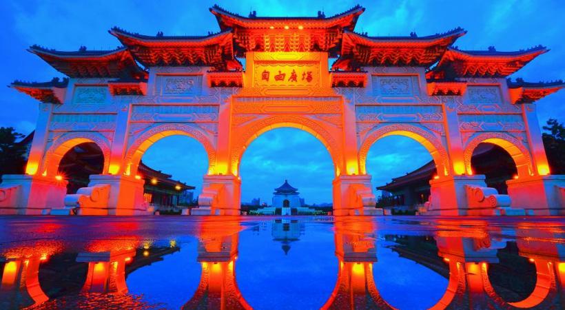 Le Freedom Square est une immense place incontournable à Taipei, la capitale. DR