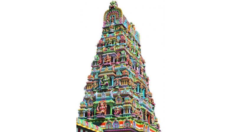 Les temples hindous se parent toujours de mille couleurs. DR