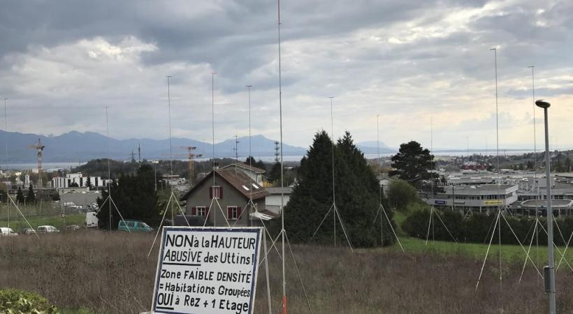 La colère gronde à Crissier autour de la construction du futur quartier des Uttins. dr