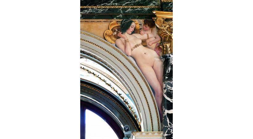 «The Florentine Quattrocento» (Venus), détail de la fresque de Gustav Klimt. KHM-MUSEUMSVERBAND