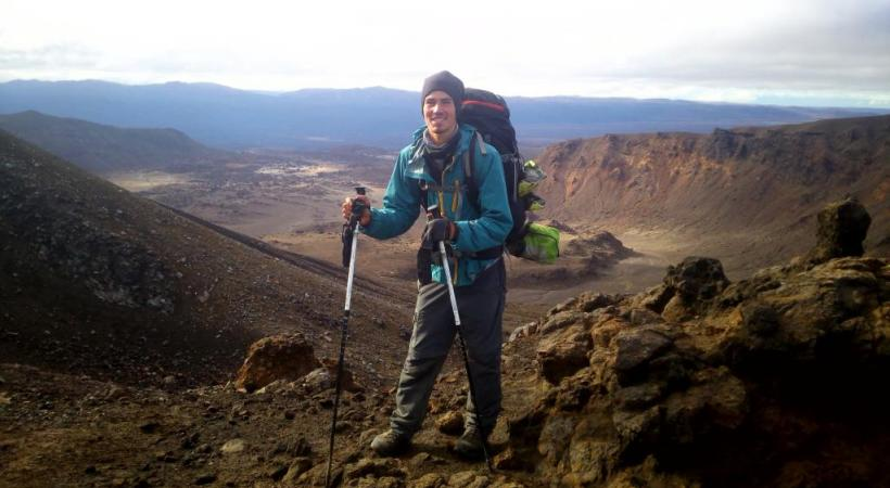 Le jeune Palinzard sur le «Te Araroa», le sentier qui traverse les deux îles qui constituent la Nouvelle-Zélande.dr