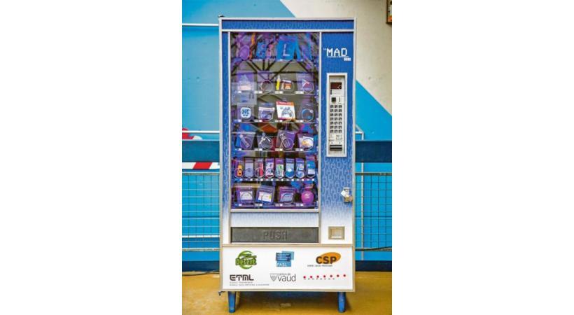 Un distributeur de snacks? Non, un moyen d'apprendre à gérer ses dépenses!  DR